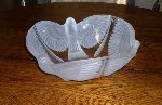 Cristal D'arques Crystal Bowl with Frosted Birds