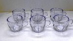 New Martinsville, Radiance, Ice Blue Punch Cups, Set of 6